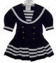 "<img src=""https://p11.secure.hostingprod.com/@grammies-attic.com/ssl/images/blue-sold-1.gif""> Bonnie Jean Navy Blue Dropped Waist Sailor Dress For Toddlers"