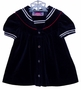 "<img src=""https://p11.secure.hostingprod.com/@grammies-attic.com/ssl/images/blue-sold-1.gif""> Petit Jardin Navy Blue Velour Sailor Dress for Baby Girls"