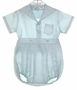 "<img src=""https://p11.secure.hostingprod.com/@grammies-attic.com/ssl/images/blue-sold-1.gif""> Vintage 1950s Pale Blue Sailor Romper For Boys"
