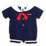 "<img src=""https://p11.secure.hostingprod.com/@grammies-attic.com/ssl/images/blue-sold-1.gif""> Good Lad Navy Knit Sailor Romper with Red Tie"