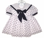 "<img src=""https://p11.secure.hostingprod.com/@grammies-attic.com/ssl/images/blue-sold-1.gif""> Little Bitty Shirley Temple Style Baby Sailor Dress with Polka Dots"
