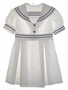 "<img src=""https://p11.secure.hostingprod.com/@grammies-attic.com/ssl/images/blue-sold-1.gif""> Vintage 1940s White Linen Sailor Dress"