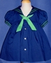 "<img src=""https://p11.secure.hostingprod.com/@grammies-attic.com/ssl/images/blue-sold-1.gif""> C. I. Castro Classic Navy Sailor Dress with Green Trim for Toddler Girls"
