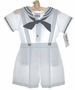 "<img src=""https://p11.secure.hostingprod.com/@grammies-attic.com/ssl/images/blue-sold-1.gif""> NEW Alexis White Toddler Sailor Shorts Set with Navy Tie"