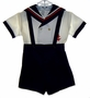 "<img src=""https://p11.secure.hostingprod.com/@grammies-attic.com/ssl/images/blue-sold-1.gif""> Vintage 1940s Unworn Sailor Shorts Set with Suspenders"