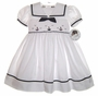 "<img src=""https://p11.secure.hostingprod.com/@grammies-attic.com/ssl/images/blue-sold-1.gif""> NEW Sarah Louise White Smocked Sailor Dress"