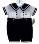 "<img src=""https://p11.secure.hostingprod.com/@grammies-attic.com/ssl/images/blue-sold-1.gif""> NEW Carriage Boutiques Navy and White Baby Sailor Suit with Anchor Embroidery"