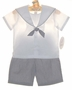 "<img src=""https://p11.secure.hostingprod.com/@grammies-attic.com/ssl/images/blue-sold-1.gif""> NEW Sophie Dess Navy and White Striped Sailor Shorts Set"