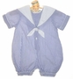 "<img src=""https://p11.secure.hostingprod.com/@grammies-attic.com/ssl/images/blue-sold-1.gif""> Sophie Dess Blue and White Seersucker Sailor Romper"