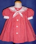 "<img src=""https://p11.secure.hostingprod.com/@grammies-attic.com/ssl/images/blue-sold-1.gif""> Ruth of Carolina Red Checked Sailor Dress for Baby Girls"