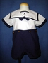 "<img src=""https://p11.secure.hostingprod.com/@grammies-attic.com/ssl/images/blue-sold-1.gif""> Boy's Petit Ami Navy & White Linen Sailor Suit with Matching Hat"