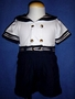 "<img src=""https://p11.secure.hostingprod.com/@grammies-attic.com/ssl/images/blue-sold-1.gif""> Vintage 1950s Boy's Linen Sailor Shirt & Shorts Set"