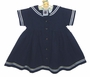 NEW Good Lad Navy Blue Linen Sailor Dress