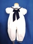 "<img src=""https://p11.secure.hostingprod.com/@grammies-attic.com/ssl/images/blue-sold-1.gif""> Good Lad White Sailor Long Bubble with Navy Bow for Baby Girls"