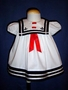 "<img src=""https://p11.secure.hostingprod.com/@grammies-attic.com/ssl/images/blue-sold-1.gif""> White Cotton Sailor Dress with Red Ribbon Insert for Baby Girls"