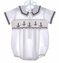 "<img src=""https://p11.secure.hostingprod.com/@grammies-attic.com/ssl/images/blue-sold-1.gif""> Carriage Boutiques White Smocked Sailor Bubble for Baby Boys"