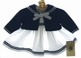 "<img src=""https://p11.secure.hostingprod.com/@grammies-attic.com/ssl/images/blue-sold-1.gif""> NEW Good Lad White Sleeveless Sailor Dress with Navy Bolero Style Sweater for Babies"