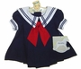 "<img src=""https://p11.secure.hostingprod.com/@grammies-attic.com/ssl/images/blue-sold-1.gif""> NEW Little Bitty Navy Sailor Dress with Red Tie"