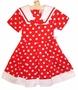 "<img src=""https://p11.secure.hostingprod.com/@grammies-attic.com/ssl/images/blue-sold-1.gif""> NEW Copper Key Shirley Temple Style Red Dotted Sailor Dress"