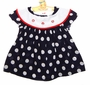 "<img src=""https://p11.secure.hostingprod.com/@grammies-attic.com/ssl/images/blue-sold-1.gif""> Little Precious Shirley Temple Style Navy Polka Dot Sailor Dress with White Collar"