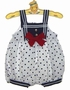 "<img src=""https://p11.secure.hostingprod.com/@grammies-attic.com/ssl/images/blue-sold-1.gif""> NEW White Dotted Sailor Sunsuit with Matching Sunhat"