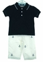"<img src=""https://p11.secure.hostingprod.com/@grammies-attic.com/ssl/images/blue-sold-1.gif""> NEW Navy Cotton Knit Shirt with White Anchor Embroidered Pants"