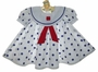 "<img src=""https://p11.secure.hostingprod.com/@grammies-attic.com/ssl/images/blue-sold-1.gif""> NEW Shirley Temple Style White Sailor Dress with Blue Dots and Matching Beret"