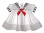 "<img src=""https://p11.secure.hostingprod.com/@grammies-attic.com/ssl/images/blue-sold-1.gif""> C.I. Castro Classic White Sailor Dress with Red Tie for Babies, Toddlers, and Little Girls"