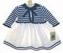 "<img src=""https://p11.secure.hostingprod.com/@grammies-attic.com/ssl/images/blue-sold-1.gif""> NEW Good Lad White Sundress with Navy and White Striped Sweater"