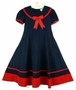 "<img src=""https://p11.secure.hostingprod.com/@grammies-attic.com/ssl/images/blue-sold-1.gif""> NEW Rare Editions Navy Sailor Dress with Red Trim"