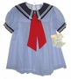 "<img src=""https://p11.secure.hostingprod.com/@grammies-attic.com/ssl/images/blue-sold-1.gif""> NEW Little Bitty Blue Pinstriped Sailor Dress with Navy Collar and Red Tie"
