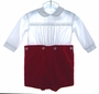 "<img src=""https://p11.secure.hostingprod.com/@grammies-attic.com/ssl/images/blue-sold-1.gif""> C I Castro Red Velvet Button On Baby Shorts with White Shirt"