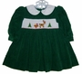 "<img src=""https://p11.secure.hostingprod.com/@grammies-attic.com/ssl/images/blue-sold-1.gif""> House of Hatten Green Corduroy Smocked Baby Dress with White Collar"