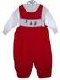 "<img src=""https://p11.secure.hostingprod.com/@grammies-attic.com/ssl/images/blue-sold-1.gif""> House of Hatten Red Smocked Baby Longall with Santa Embroidery"