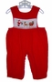 "<img src=""https://p11.secure.hostingprod.com/@grammies-attic.com/ssl/images/blue-sold-1.gif""> House of Hatten Red Corduroy Smocked Baby Longall with Santa Embroidery"