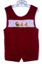 "<img src=""https://p11.secure.hostingprod.com/@grammies-attic.com/ssl/images/blue-sold-1.gif""> House of Hatten Dark Red Velvet Smocked Baby Shortall"