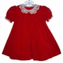 "<img src=""https://p11.secure.hostingprod.com/@grammies-attic.com/ssl/images/blue-sold-1.gif""> Good Lad Classic Red Velvet Baby Dress with Lace Collar"