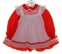 "<img src=""https://p11.secure.hostingprod.com/@grammies-attic.com/ssl/images/blue-sold-1.gif""> Bryan Red Dress and White Dotted Pinafore with Lace Trim"