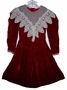 "<img src=""https://p11.secure.hostingprod.com/@grammies-attic.com/ssl/images/blue-sold-1.gif""> Sarah Kent Dark Red Velvet Dress with White Lace Collar"