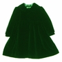 "<img src=""https://p11.secure.hostingprod.com/@grammies-attic.com/ssl/images/blue-sold-1.gif""> Elegant Sarah Louise Plush Fully Lined Green Velvet Coat Style Dress For Toddlers"