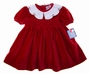 "<img src=""https://p11.secure.hostingprod.com/@grammies-attic.com/ssl/images/blue-sold-1.gif""> NEW Petit Ami Red Velvet Dress with White Embroidered Collar"
