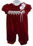 "<img src=""https://p11.secure.hostingprod.com/@grammies-attic.com/ssl/images/blue-sold-1.gif""> NEW Rose Cottage Dark Red Velvet Baby Bubble with Lace Trim"