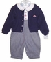 "<img src=""https://p11.secure.hostingprod.com/@grammies-attic.com/ssl/images/blue-sold-1.gif""> NEW Petit Ami Navy Checked Romper with Matching Sweater"