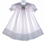 "<img src=""https://p11.secure.hostingprod.com/@grammies-attic.com/ssl/images/blue-sold-1.gif""> Rosalina White Smocked Baby Bishop Dress with Santa Embroidery"