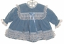 "<img src=""https://p11.secure.hostingprod.com/@grammies-attic.com/ssl/images/blue-sold-1.gif""> Toddle Tyke Pale Blue Velvet Baby Dress with Lace Ruffles"