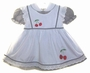 "<img src=""https://p11.secure.hostingprod.com/@grammies-attic.com/ssl/images/blue-sold-1.gif""> Black and White Checked Dress with Cherry Appliqued Pinafore"