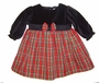 "<img src=""https://p11.secure.hostingprod.com/@grammies-attic.com/ssl/images/blue-sold-1.gif""> NEW Red Plaid Taffeta Dress with Black Velvet Top"