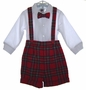 "<img src=""https://p11.secure.hostingprod.com/@grammies-attic.com/ssl/images/blue-sold-1.gif""> Good Lad Red Plaid Baby Shorts Set with Bowtie"