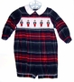 "<img src=""https://p11.secure.hostingprod.com/@grammies-attic.com/ssl/images/blue-sold-1.gif""> Anavini Navy Plaid Smocked Baby Shortall with Tin Soldiers Embroidery"