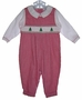 "<img src=""https://p11.secure.hostingprod.com/@grammies-attic.com/ssl/images/blue-sold-1.gif""> Petit Ami Red Checked Smocked Baby Longall with Christmas Trees Embroidery"